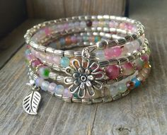 Colorful Spring Multi Strand Memory Wire by McHughCreations