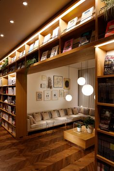 Bookstore Design, Home Library Design, Design Desk, Minimal House Design, Cozy Coffee Shop, Book Bar, Hidden Rooms, Luxury Homes Dream Houses, Home Libraries