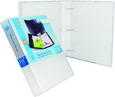 "3 Ring Case View Binder with Overlay - 1.5"" http://amzn.to/21kmxtv #Amazon #madeinusa #clear"