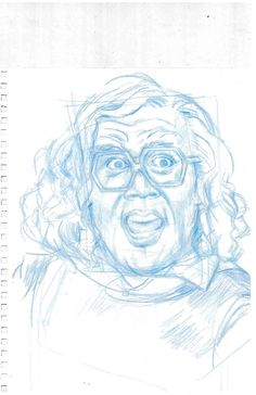 "Character Study for Character & Object Design - Mood Study  ""Angry Madea"" By Edna Stewart stewart.edna15@yahoo.com"
