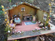 Crafting Fairy Houses