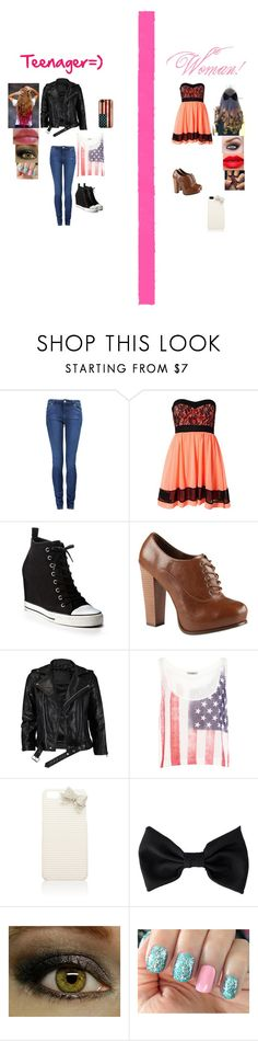 """""""Teenager/Womman"""" by glee2shake ❤ liked on Polyvore featuring Paul by Paul Smith, Sisters Point, DKNY, Call it SPRING, VIPARO, Pull&Bear, Forever New, American Apparel and Urban Decay"""