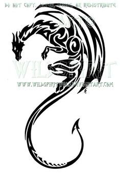 Tribal winged dragon