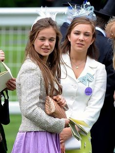 (L-R) Lady Amelia Windsor (age 17) and her sister Lady Marina Charlotte Windsor (age 20), daughters of Earl and Countess of St Andrews