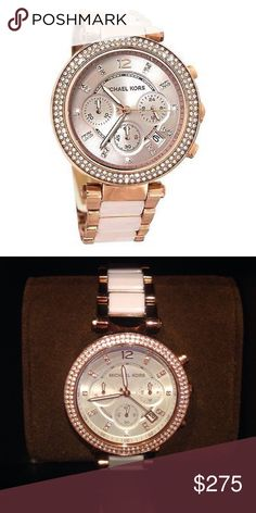 Michael Kors Parker Rose Gold blush Watch Parker Blush Rose Gold-Tone Acetate Watch. Brand new with tags and watch box! No trades price is firm! Retails for $295 Michael Kors Accessories Watches