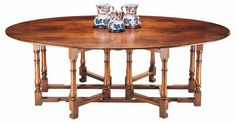 Double gateleg dining table