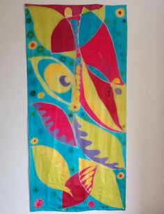 Tropicalia. 180x90cm Tinta sobre seda. 2013