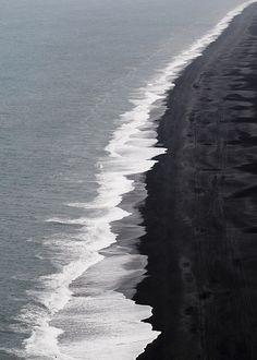 Black sand beach,Hawaii.