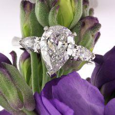2.50ct Pear Shape Diamond Engagement Ring and Anniversary Ring