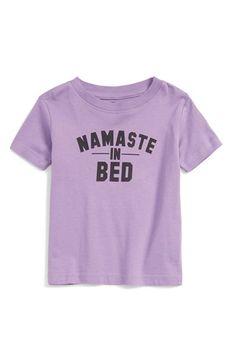 Kid Dangerous 'Namaste in Bed' Graphic Tee (Baby Girls)