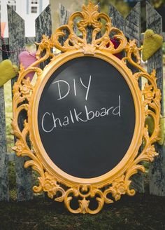 IKEA hack:  Ung Drill picture frame turned into a chalkboard