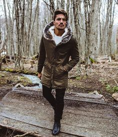"""""""WE ARE NOW THE NEXT GENERATION, WE LIVE IN THE FUTURE, TRAVEL ON THE WINGS OF WEB, BUT NEVER FORGET TO BRING WITH US ALL THAT WE BELIEVE"""" @marianodivaio . Total look by #nohow : •Great ice Parka • Gabardin Trousers •Tuscany 317M . Find all on nohowstyle.com #beNohow"""