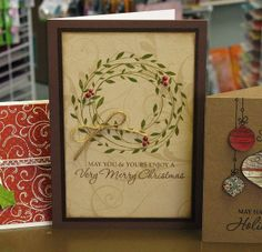 Wreath of Leaves card by Meghan. Very Merry Christmas | Flickr - Photo Sharing!