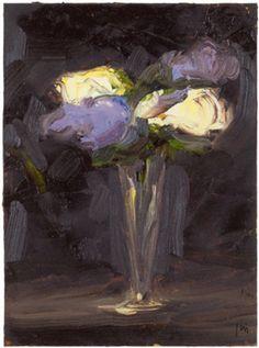 Peter Frie - Flowers no 5, 2013. Oil on board 50x40cm