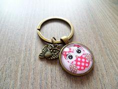 Schlüsselanhänger - Schlüsselanhänger ❦ Eule in pink ❦  - ein Designerstück von Flinke-Perle bei DaWanda