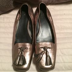 Metallic  Cole Haan Nike Air flats These add the perfect amount of shine to your outfit! They were worn once! Cole Haan Shoes Flats & Loafers