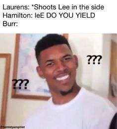 yall its bc hamilton would not have yielded if he had not been shot somewhere that almost killed him instantly