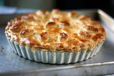Chicken & Mushroom Pie ~ My sister had told me to try out Maggie Beer's pie pastry a long while back. I had totally forgotten about it and thought that it would be . Savory Pastry, Savory Tart, Savoury Baking, Savoury Pies, Chicken And Mushroom Pie, Beer Chicken, Beer Recipes, Whole Food Recipes, Chicken Recipes