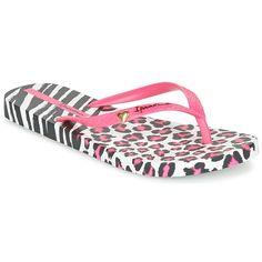 Flip+flops+Ipanema+ANIMAL+PRINT+II+Pink+/+White+/+Black+26.00+$