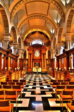 St Bride's Church, London. Home of journalism, printing & wedding cake design. Also a link to the first English colonist born in the New World. More here.