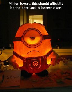 One of the coolest Jack-o-Lanterns ever, or at least for Minion fans.
