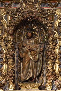 Saint Joseph in Salamanca Cathedral Catholic Art, Catholic Saints, Roman Catholic, Religious Icons, Religious Art, St Josephs Day, Lives Of The Saints, Blessed Mother Mary, Sisters In Christ