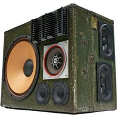 600 Watt BoomCase built in a Vintage Army Trunk - Perfect for your home or outdoors : ) - #BoomCase #BoomBox #Vintage