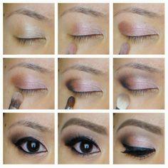 Soft pink and brown eye makeup #tutorial #evatornadoblog