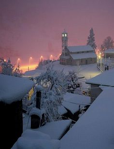 Milia village in Ioannina, Greece Albania, Montenegro, Myconos, Places In Greece, Paradise On Earth, Winter Beauty, Winter Scenes, Countries Of The World, Night Life