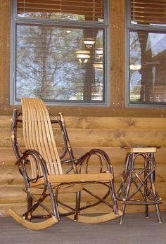 vintage wooden rocking chair bentwood adirondack twig furniture