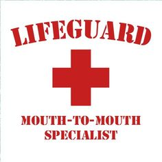 Lifeguard Mouth to Mouth Funny Men's Summer Geek Hilarious Novelty Tee T SHIRT #LimpinLarrysTshirts #GraphicTee