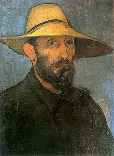 Władysław Ślewiński - Autoportret w słomkowym  kapeluszu, 1894