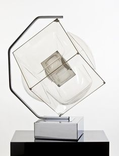 Aaronel deRoy Gruber Life of it's Own, Plexiglass and chrome kinetic sculpture, with motorized base. 34 x 27 x image Francis Frost Gallery. Interior Lighting, Modern Lighting, Lighting Design, New Media Art, Lamp Design, Display Design, Light Table, Installation Art, Decorative Accessories