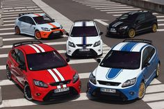 Ford Focus ST, which colour would you choose? Ford Sport, Ford Rs, Car Ford, Le Mans, Ford Focus 2002, Ford Motorsport, Ford Fiesta St, Performance Cars, Vinyls