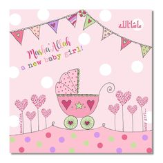 Your place to buy and sell all things handmade Diy Gifts For Kids, Diy Mothers Day Gifts, Mothers Day Cards, New Baby Gifts, Baby Girl Wishes, Baby Girl Cards, New Baby Cards, Baby Messages, Mother Day Wishes