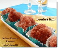 This bourbon ball recipe is one of those Italian cookie recipes I've been making for 15+ years.I use it on my Christmas Cookie Platter.See this and over 235 Italian Dessert Recipes with photos.