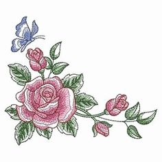Sketched Roses 2, 9 - 5x7   What's New   Machine Embroidery Designs   SWAKembroidery.com Ace Points Embroidery