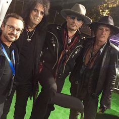 Legendary! After the interview with the Hollywood Vampires: Alice Cooper, Johnny Depp and Joe Perry.