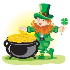 Patrick's Day leprechaun & pot of gold shamrock vector art Bike Experience, St Patricks Day Cards, Irish Leprechaun, Kobold, Free Vector Illustration, Vector Art, Irish Blessing, Pot Of Gold, Valentines Day Hearts