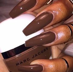 Me for promos brown nails, brown acrylic nails, brown nail polish, korn, . Brown Acrylic Nails, Brown Nail Art, Brown Nails, Coffin Shape Nails, Coffin Nails Long, Dope Nails, Nails On Fleek, Perfect Nails, Gorgeous Nails