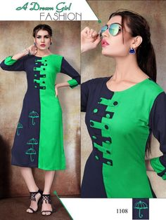 Description:- Designer Casual Rayon Straight Kurti Top Length:- Upto 48 Inches Stitched Type:- Stitched Sleeve Type:- Sleeve Neck Type:- Round Neck Occassion:- All Season Simple Kurti Designs, Kurta Designs Women, Salwar Designs, Kurti Sleeves Design, Kurta Neck Design, Neck Designs For Suits, Dress Neck Designs, Indian Fashion Dresses, Fashion Outfits