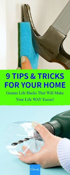 9 Clever Home Hacks That Will Simplify Your Life | #cleverly #diy #tips #tricks #hacks #fyi #dyk #tipsandtricks #lifehacks #homehacks #nomessnostress #clean #homeimrpovements #nomessnostress #timesaver #moneysaver #spotless #handyman #tutorial #howto #repurpose #household #remodeling #springcleaning #getorganized #livingspace #knowledgeispower #hammer #spraypaint #drill Knowledge Is Power, Home Hacks, Spring Cleaning, Lifehacks, Cleaning Tips, Repurpose, Remodeling, Drill, Clever