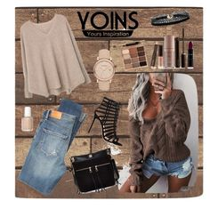 """❤YOINS inspirations❤"" by clarinette38 on Polyvore featuring Citizens of Humanity, MANGO, Gianvito Rossi, River Island, Burberry, Azalea, Stila, Laura Mercier and Essie"