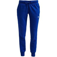 adidas Originals Tracksuit bottoms collegiate royal (92 AUD) ❤ liked on Polyvore featuring activewear, activewear pants, pants, sport, royal blue, collegiate sportswear, tall activewear, tall track pants, track pants and adidas originals