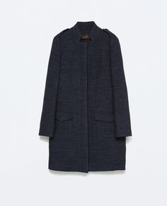 ZARA - WOMAN - COAT WITH FLAP POCKETS