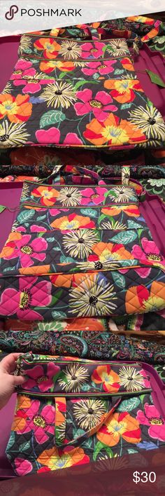 SALE Vera Bradley convertible crossbody Can be a tote or a crossbody bag. Outside a slip pocket on front and back. Main compartment magnetic closure. Inside 1 zip pocket, 2 slip pockets, 2 pen slots. Vera Bradley Bags Crossbody Bags