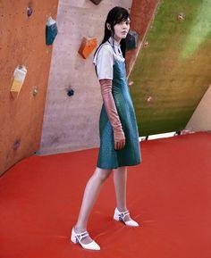 MgCO3. Special Prada: Kate Bogucharskaia by Anthony Arquier for Odda Magazine October 2015 - Prada Fall 2015
