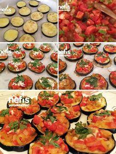Fırında Mini Patlıcan Pizza Tarifi nasıl yapılır? 1.042 kişinin defterindeki bu tarifin resimli anlatımı ve deneyenlerin fotoğrafları burada. Yazar: Elif'ten Sağlıklı Tarifler