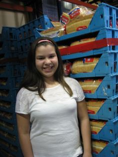 Meet one of our favorite youth volunteers, Gabby Franco! She joined us this summer to separate bread from pallets and pack boxes of commodity products for seniors. The experience proved to be a rewarding and memorable part of her summer vacation, and ours!