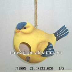 Garden Decorative Polyresin Bird House
